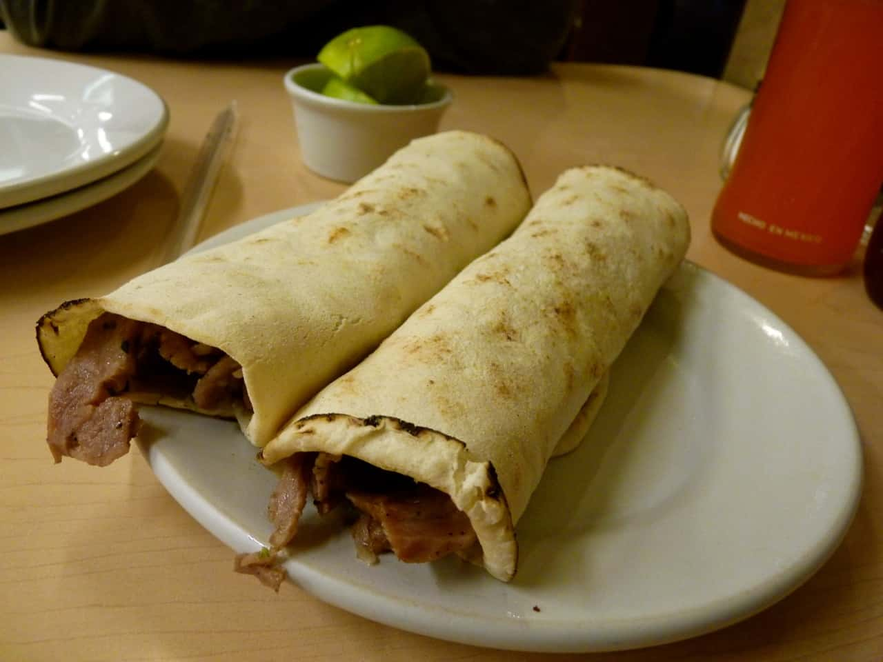 una orden de tacos árabes en Puebla en la taquería Beyrut